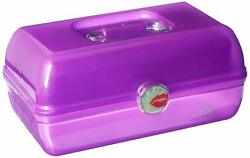 Caboodles On the Go Girl Classic Case Purple 2.4 Pound Mirror Removable Tray