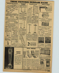 1932 PAPER AD Art Deco 47quot; Tall Floor Weight Penny Vending Scale Arcade Type $19.97