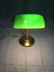 Vintage Brass Green Desk Lamp $41.99