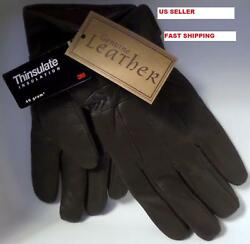 Mens Thinsulate Genuine Leather Gloves $14.95