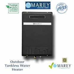 Outdoor Tankless Water Heater Liquid Propane Gas Marey GA30OLP 8 GPM