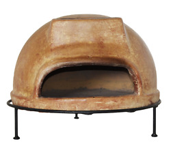 Wood Fired Pizza Oven Kit Grill Patio Dining Cooker Set Outdoor Clay Tile Stove