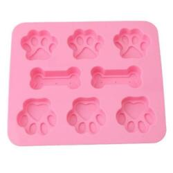 Bone & Paws Pet Paw Silicone Soap Mold Candy Chocolate Fondant Tray Ice Cube BL