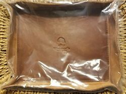 Wheelmen & Co VALET TRAY BROWN LEATHER Organizer Tray Made In USA