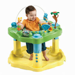 Evenflo Exersaucer Deluxe Zoo Friends Baby Fun Activity Play Center Holder New $74.70