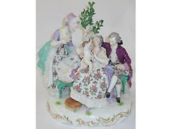 MUSEUM QUALITY ANTIQUE BEAUTIFUL RARE LARGE  MEISSEN FIGURAL GROUP