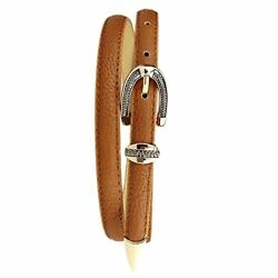 GQMART Women Retro Pin Buckle Skinny Waistband Belt Faux Leather Thin Belt-Light