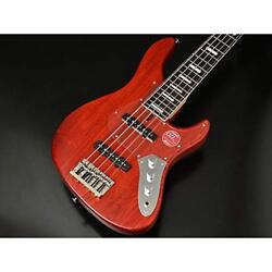 Bacchus WL 524 DX - ASH RED  OIL Red Oil 5 string electric bass craft series Ba