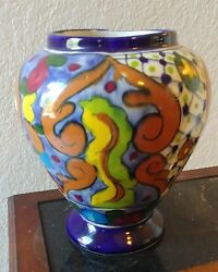 Decorative Table Vase Blue Brown White Red Yellow Green $29.95