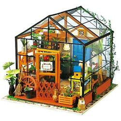Dollhouse Wooden Room Kit-Flower Green House-Home Decoration-Miniature Model To