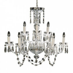 Waterford Crystal Lismore 9 Arm Chandelier $5200 Best Offer Free Shipping