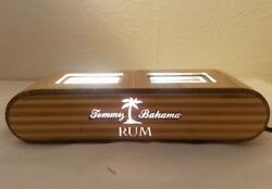 TOMMY BAHAMA Bamboo Wood Dual Bottle Light MAN CAVE SHE SHED Tiki Bar Rum
