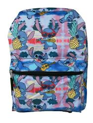 NEW ARRIVE Disney Lilo and Stitch Allover Print 16quot; Girls Large School Backpack $25.89