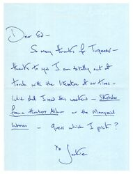 Jacqueline Kennedy - Autograph Letter Signed - Acquires Russian Literature