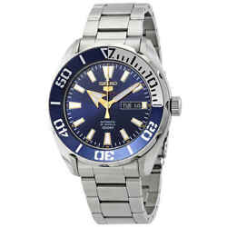 Seiko Series 5 Automatic Blue Dial Stainless Steel Men#x27;s Watch SRPC51 $148.11
