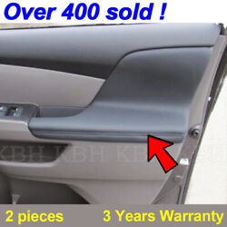 2pcs Door Armrest Replacement Cover Leather For Honda Odyssey 11-17 Dark Gray $27.30