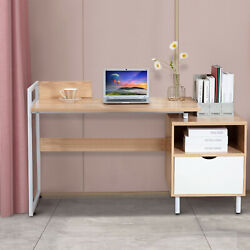 Computer Desk PC Laptop Table Home Office Desk Study Furniture Metal w 2 Drawers $139.99