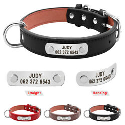 Personalized Dog Collar Custom Personalized Collars Leather Collar for Labrador $12.99