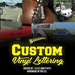 Custom Vinyl Lettering Decal Personalized Sticker Window Text Name Car Wall $11.00