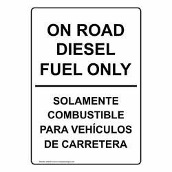 ComplianceSigns Vinyl Diesel Label 5 x 3.5 in. with Bilingual White 4-pack