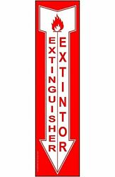 Extinguisher - Extintor Bilingual Safety Label Decal 14x4 inch Vinyl