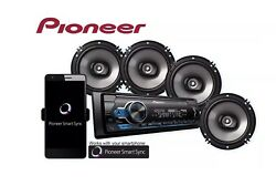 Pioneer Car Stereo Bundle MVH-S310BT Digital Media Receiver And 4 6.5