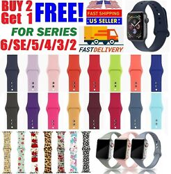 Silicone Nylon Sport Band Strap for Apple Watch Series 5 4 3 2 1 42 44mm 38 40mm $5.95