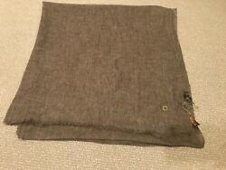 NWT LORO PIANA Cashmere Scarf in Camel Brown $1200 Light Weight Great Gift 🎁