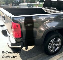 2 Truck vinyl decals Chevrolet Chevy Colorado side graphics rear bed Stripes 4x4