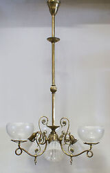 Combination 3 Gas 3 Electric Fixture Chandelier Light Shades