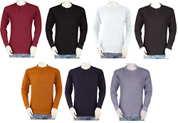 Big and Tall Mens THERMAL Shirts - Henley - Heavy Weight - Cotton Blend Waffle