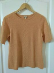 NORDSTROM STUDIO coral 100% Cashmere Size S Sweater Top