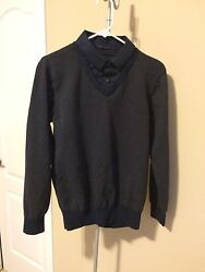 LTD Mens Look Of A Collar Sweater Dressy Size XL more like a Large $8.50