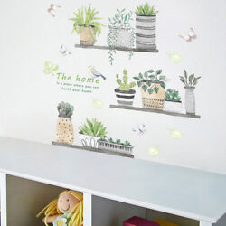 Birds Butterfly Leaves Cactus Sticker Removable DIY Room Bedroom Mural Shan $6.95