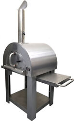 NEW Stainless Steel Artisan Outdoor Wood Fired Pizza Oven BBQ Grill +Accessories