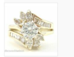 Diamond Marquise & Baguette Engagement ring