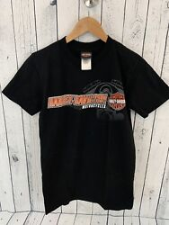 Harley Davidson Motorcycles Xiamen China T Shirt Black Size Small HD E1 $11.04