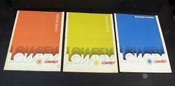 3 Book Lot LOWREY Organ Music Songs Young Sounds Moods Favorites 1970s Pop Rock
