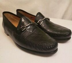 Parigi Horsebit Genuine Crocodile Loafers 11.5 Men's - Spain - Compare $3300