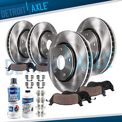 FWD 2007 2008 2009 Ford Edge Lincoln MKX Front Rear Brake Rotors + Ceramic Pads