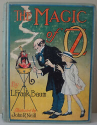 The Magic of OZ by L. Frank Baum - 1919 HC w 12 Color Plates - Nice!