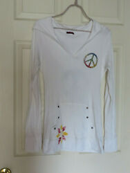 T Party Women#x27;s Shirt Pull Over Hoodie SZ S Embellished $22.89