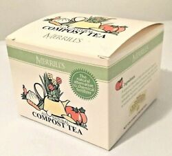 Merrill's Organics All Natural Compost Tea 12 Teabags Plant Food Fertilizer $13.95