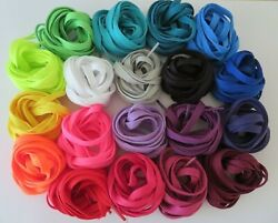 Flat Athletic Shoes Sneakers Shoelaces  42 47 50 Multiple Colors $2.49