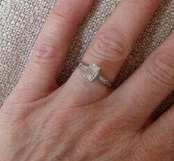 Vintage Platinum Classic 4 prong setting Baguettes UPDATED*