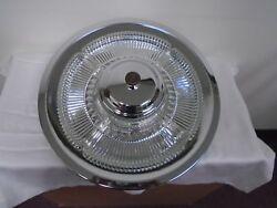 MID CENTURY KROMEX LAZY SUSAN CHROME GLASS VINTAGE DIVIDED SERVING RELISH TRAY