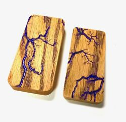 Wood Case for JUUL Fractal Burned with PURPLE Epoxy Resin