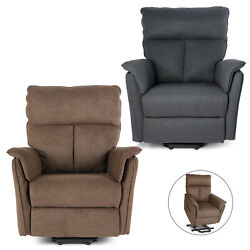 Electric Rocker Recliner with Massage Chair Sofa USB+Heat Swivel Leather Lounge