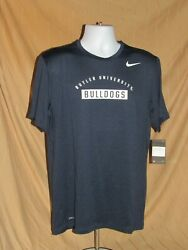 BUTLER BULLDOGS BU NEW NIKE DRI FIT COACH SS TEE SHIRT LARGE MENS
