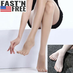 Women Seamless Ultra Sheer 5 Toes Glove Pantyhose Silky Tights Stockings Sexy US